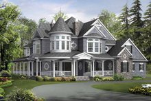 Architectural House Design - Victorian Exterior - Front Elevation Plan #132-255