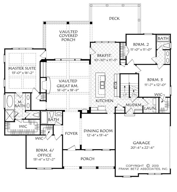 Dream House Plan - European Floor Plan - Main Floor Plan #927-961