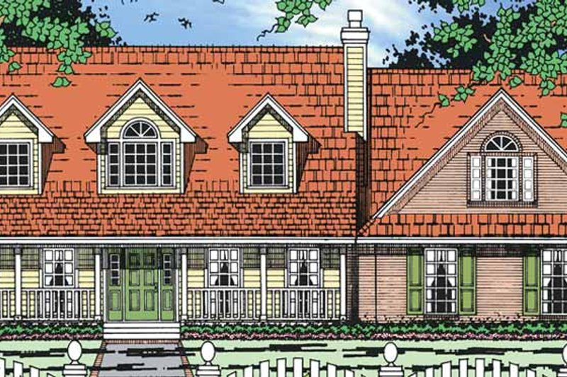 Architectural House Design - Country Exterior - Front Elevation Plan #42-684