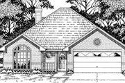 Traditional Style House Plan - 3 Beds 2 Baths 1393 Sq/Ft Plan #42-154 Exterior - Front Elevation