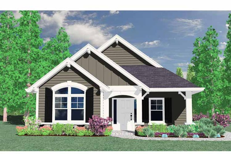 Traditional Exterior - Front Elevation Plan #509-114 - Houseplans.com
