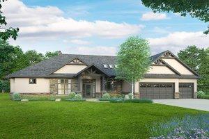 House Blueprint - Craftsman Exterior - Front Elevation Plan #124-1240