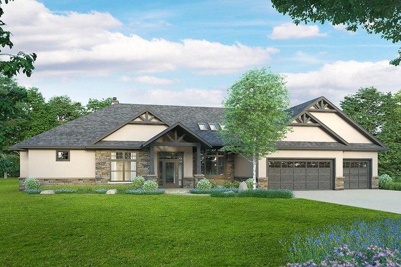 House Plan Design - Craftsman Exterior - Front Elevation Plan #124-1240
