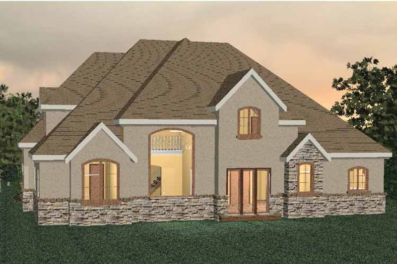 Country Exterior - Rear Elevation Plan #937-10 - Houseplans.com