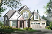 Dream House Plan - Country Exterior - Front Elevation Plan #132-307