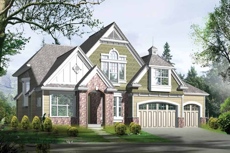 Country Exterior - Front Elevation Plan #132-307 - Houseplans.com