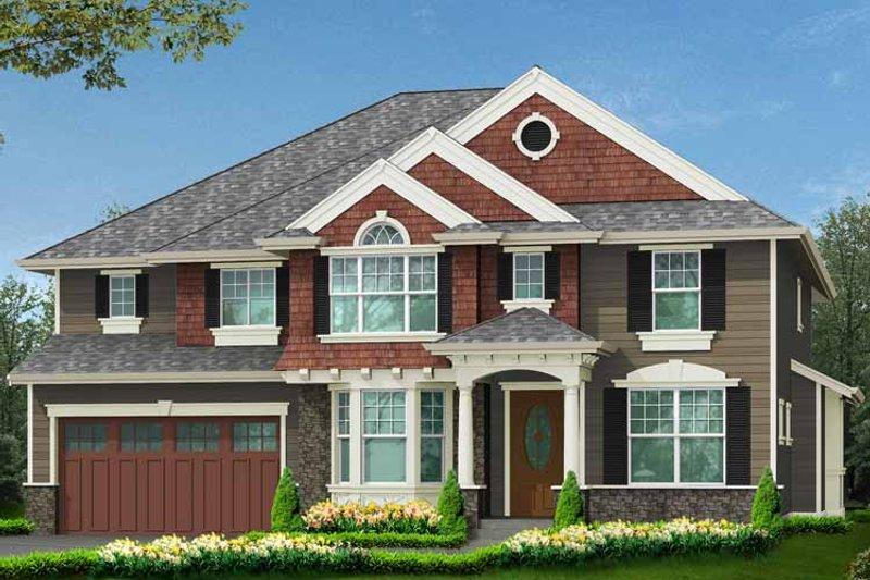 Craftsman Exterior - Front Elevation Plan #132-441 - Houseplans.com