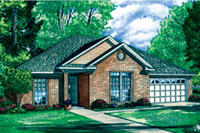 Ranch Exterior - Front Elevation Plan #17-3236 - Houseplans.com