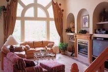 Mediterranean Interior - Family Room Plan #417-556