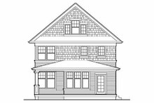 House Design - Craftsman Exterior - Rear Elevation Plan #48-489