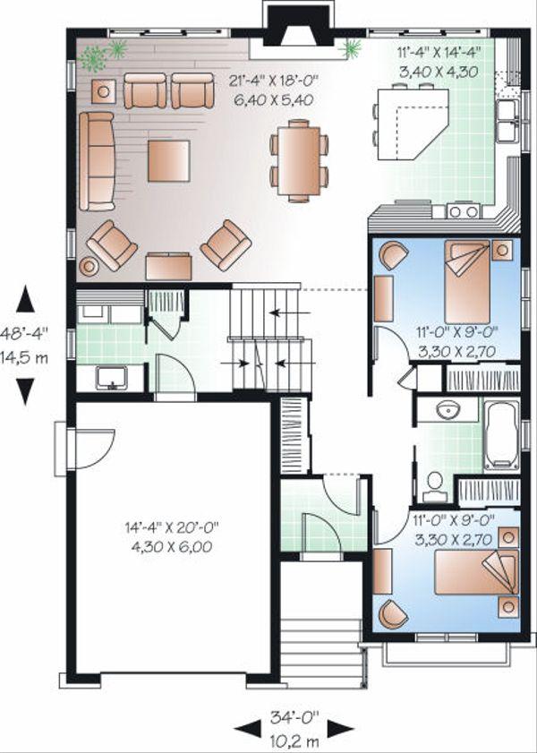 Traditional Floor Plan - Main Floor Plan Plan #23-814