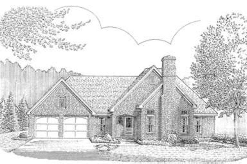 Home Plan - European Exterior - Front Elevation Plan #410-294