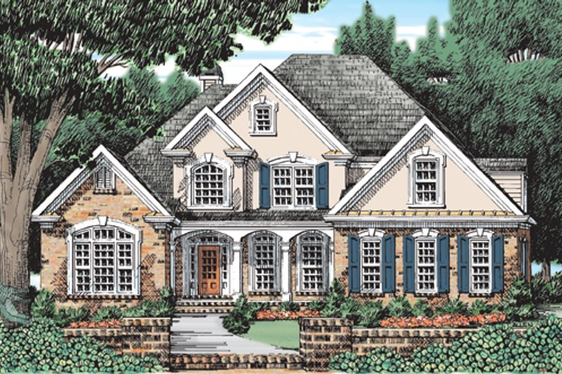Traditional Exterior - Front Elevation Plan #927-126 - Houseplans.com