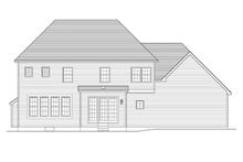 Colonial Exterior - Rear Elevation Plan #1010-62