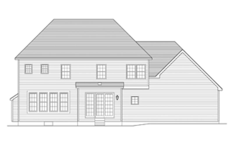 Colonial Exterior - Rear Elevation Plan #1010-62 - Houseplans.com