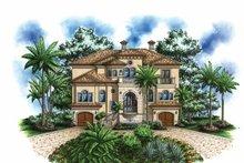 Architectural House Design - Mediterranean Exterior - Front Elevation Plan #1017-109