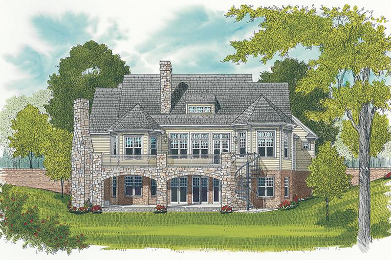 Craftsman Exterior - Rear Elevation Plan #453-633 - Houseplans.com