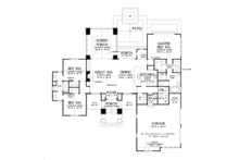 Prairie Floor Plan - Main Floor Plan Plan #929-1001