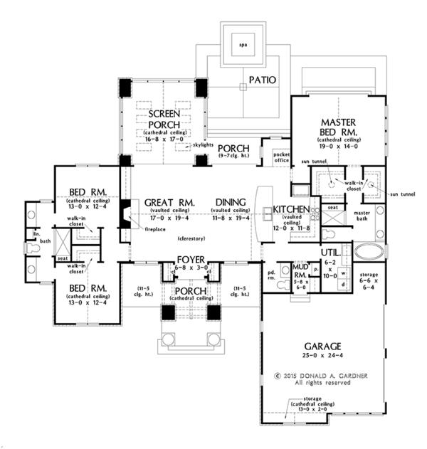 Dream House Plan - Prairie Floor Plan - Main Floor Plan #929-1001