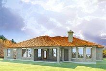 Dream House Plan - Mediterranean Exterior - Rear Elevation Plan #80-165