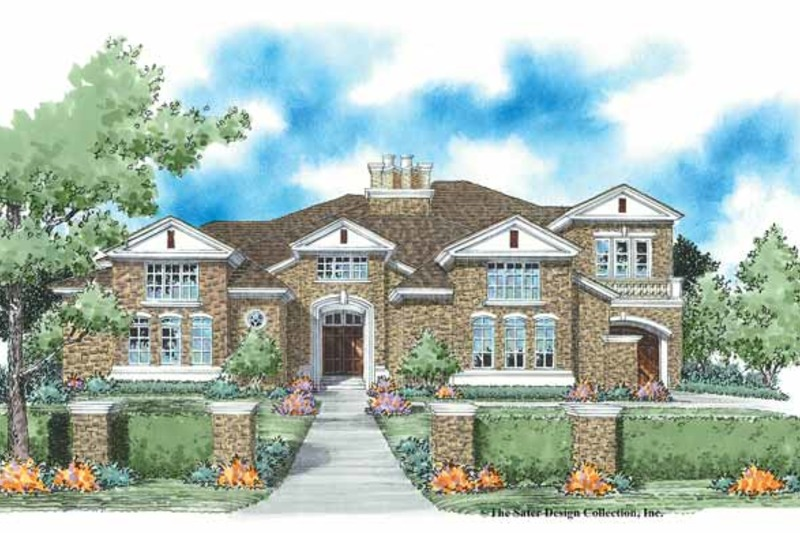 European Exterior - Front Elevation Plan #930-333