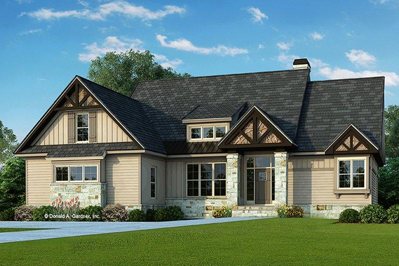 House Plan Design - Craftsman Exterior - Front Elevation Plan #929-935