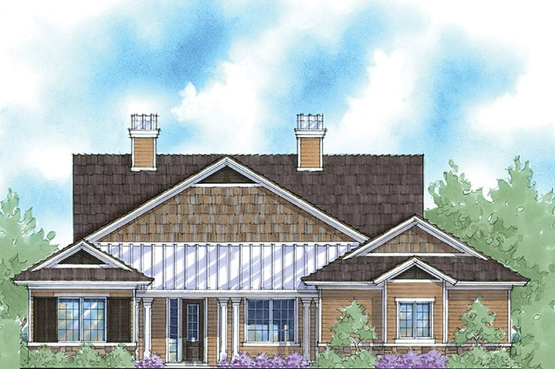Country Exterior - Front Elevation Plan #938-55 - Houseplans.com