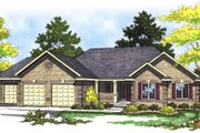 Traditional Style House Plan - 3 Beds 2 Baths 1640 Sq/Ft Plan #70-172 Exterior - Front Elevation
