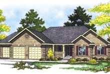 Traditional Exterior - Front Elevation Plan #70-172