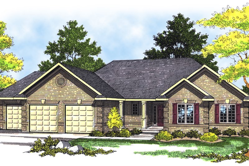 Traditional Exterior - Front Elevation Plan #70-172 - Houseplans.com