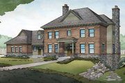 Cottage Style House Plan - 4 Beds 3.5 Baths 3425 Sq/Ft Plan #928-327 Exterior - Front Elevation