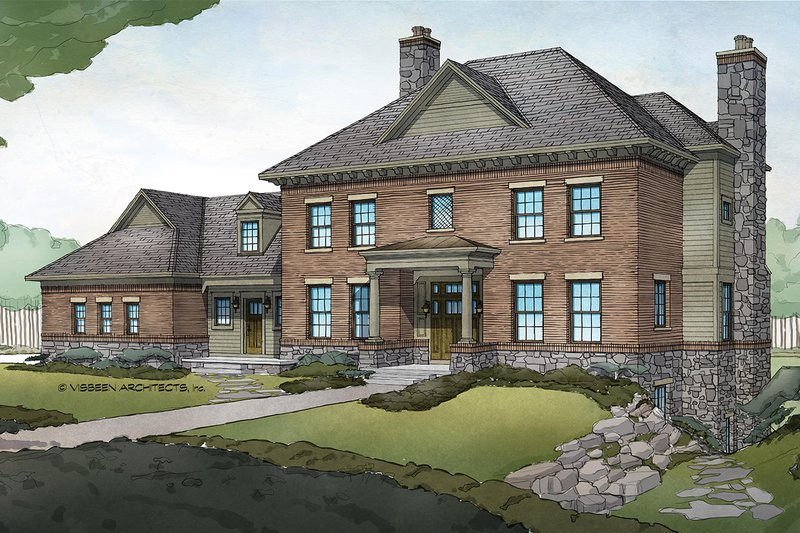 Cottage Exterior - Front Elevation Plan #928-327