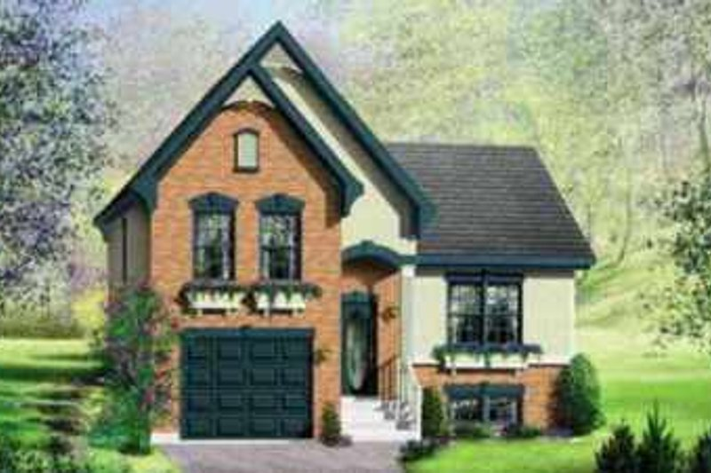 European Style House Plan - 2 Beds 1 Baths 2122 Sq/Ft Plan #25-312 Exterior - Front Elevation