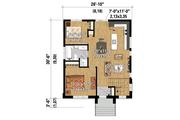 Contemporary Style House Plan - 2 Beds 1 Baths 797 Sq/Ft Plan #25-4268 Floor Plan - Main Floor Plan