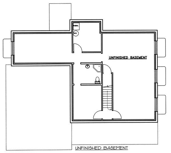 Bungalow Floor Plan - Lower Floor Plan Plan #117-540