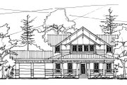 Craftsman Style House Plan - 4 Beds 3.5 Baths 2538 Sq/Ft Plan #536-7 Photo