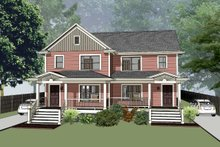 Southern Exterior - Front Elevation Plan #79-240