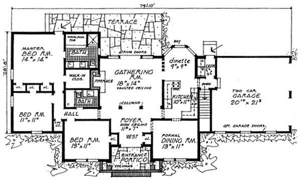 Ranch Floor Plan - Main Floor Plan #315-106