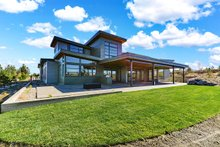 Dream House Plan - Contemporary Exterior - Rear Elevation Plan #892-30
