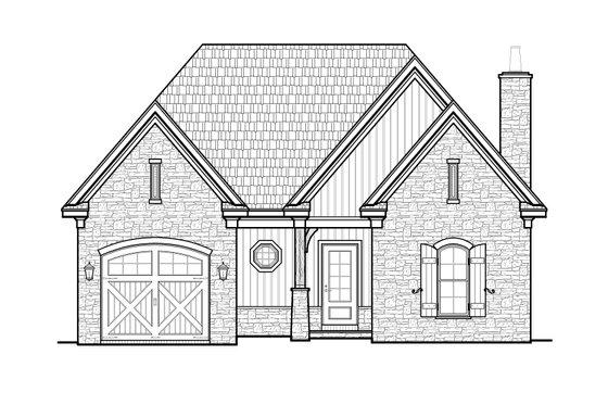 Craftsman Exterior - Front Elevation Plan #34-235