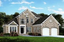 Colonial Exterior - Front Elevation Plan #929-158