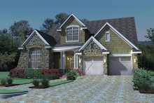 Dream House Plan - Traditional Exterior - Front Elevation Plan #120-166