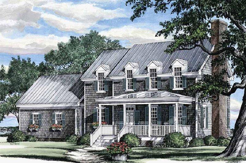 Farmhouse Exterior - Front Elevation Plan #137-106 - Houseplans.com