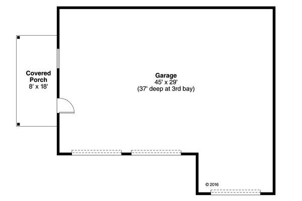 Prairie Floor Plan - Main Floor Plan Plan #124-1053