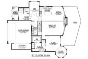 Craftsman Style House Plan - 5 Beds 3.5 Baths 3107 Sq/Ft Plan #1064-11 Floor Plan - Main Floor Plan