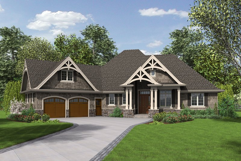 Front view - 2200 square foot Craftsman home
