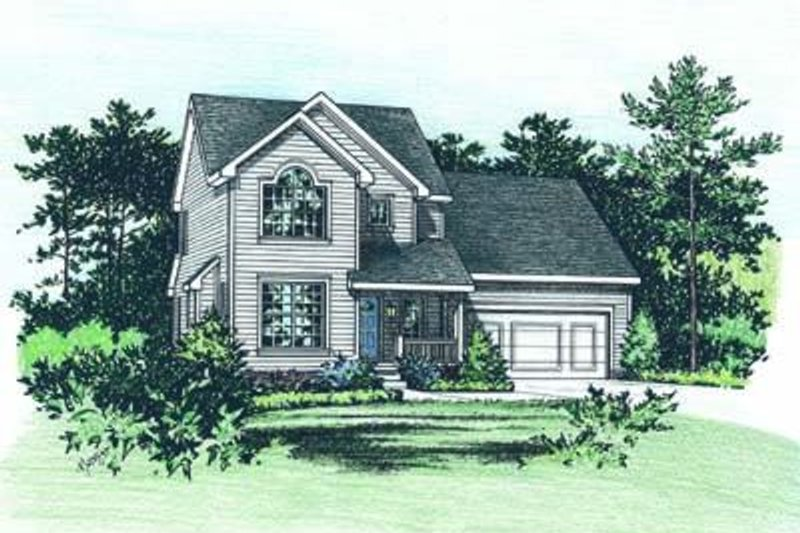 Dream House Plan - Traditional Exterior - Front Elevation Plan #20-1325