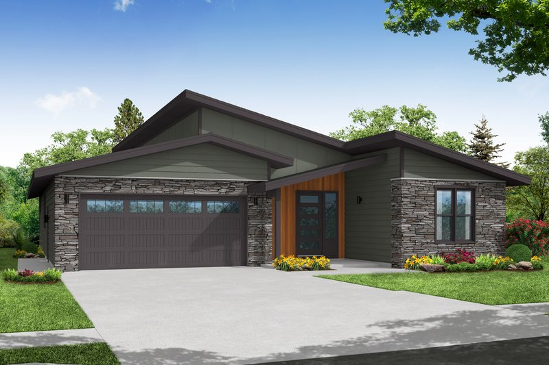 House Plan Design - Modern Exterior - Front Elevation Plan #124-1261