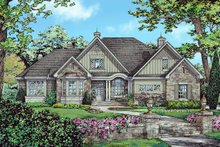 House Plan Design - European Exterior - Front Elevation Plan #929-1056