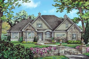European Exterior - Front Elevation Plan #929-1056